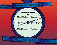 """All Around Hip-Hop"" Rap Festival Flyer"