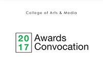 2017 Awards Convocation Invitation Design