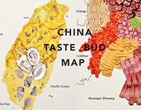 China city taste bud map