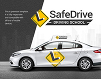 Driving School Responsive Website Theme