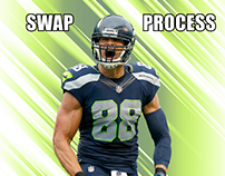Uniform swap process of Jimmy Graham to the Packers
