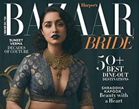 Harper's Bazaar Bride India Shraddha Kapoor Cover