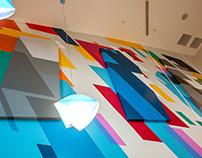 Gallerie Apts lobby mural