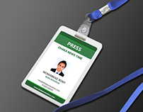 Corporate ID Card Holder Mockup PSD Free