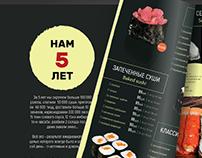 Design Menu for restaraunt Izumi