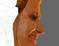 Low Poly Portrait - Profile View