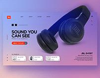 JBL Headphone Landing page Web UI