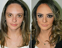 makeup, before and after
