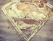 Superman Logo carved with Dremel