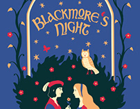 Band T-shirt design for Blackmore's Night