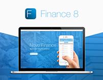 Finance 8 - Landing page