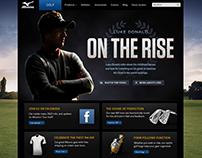 Mizuno Golf Web Design