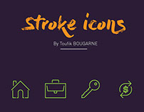 "Stroke Icons ""L'bureau"""