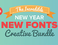 The New Year New Fonts Bundle