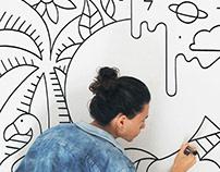 """Mural """"C Dreamcatcher"""""""