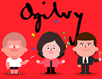 One Ogilvy Sticker Set