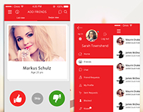 Teleamigos - Dating App iOS Design
