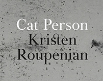 Bookcover Design Cat Person Kristen Rouperian