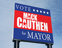 Mayoral Campaign poster and banner.