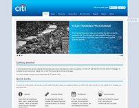 Graduate learning website for Citi Bank