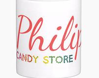 Philip's Candy Store Mug Design
