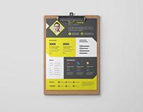Free Clean Designer CV Template