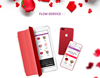 "Flower e-commerce website for ""Flow-Service"" company"