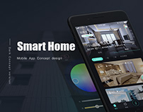 Smart Home App - Dark Concept version
