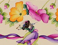 Documentary Stripe Dye Painting