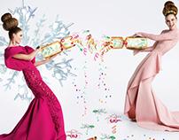 Illustrations for Ahlan magazine Festive Fashion Shoot