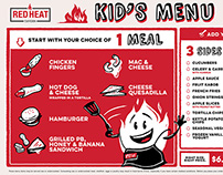 Red Heat Tavern Kid's Menu