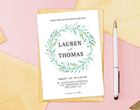 Free Simple Floral Wedding Invitation Template