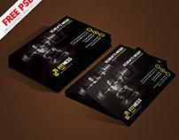 Gym Trainer Minimalistic Business Card PSD