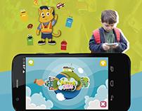 UI design para Edugame Ativa Kids