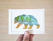 Nature Within ~ Paper cut diorama