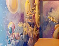 wall painting in kindergarten