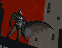 Batman animated series poster
