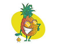 Secret life of fruits - T-shirt designs