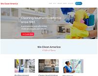 We Clean America Cleaning Website