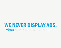 We Never Display Ads
