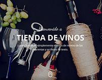 Diseño web para ¨VinusVinis¨