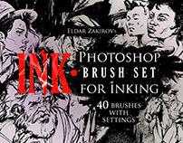 INK  40 Photoshop Brushes for Inking on Behance