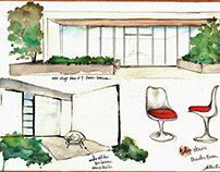 C. Eames, Case study house n°9 sketches