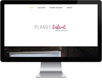 Planet Talent - UX/UI Design (onepage)