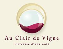 Création graphique (web) // Projet Au Clair de Vigne