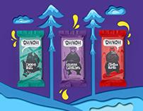 Packaging design for Adventure food OMNOM