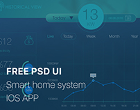 FREE PSD UI DOWNLOAD Smart home system IOS APP