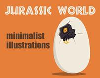 Jurassic World minimalist illustrations