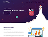 One Pager Web Design | Portfolio Website | Rightfullabs