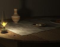 Oriental Dining set (Tableya) CG Visualization